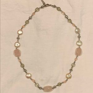 Jewelry - Faux Mother of Pear and Bead Necklace